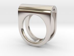 SADDLE RING - SIZE 7 in Rhodium Plated