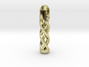 Tritium Lantern 2A Paracord (Silver/Brass/Plastic) in 18K Gold Plated
