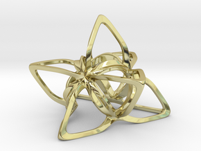Merkaba Flatbase CurvaciousP - 7cm in 18K Gold Plated
