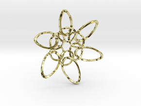 6 Ring PentaTwist  - 6.6cm in 18K Gold Plated