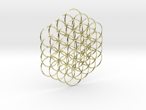 Flower Of Life Weave - 8cm  in 18K Gold Plated