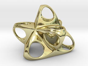 Merkaba Flatbase R1 5cm in 18K Gold Plated
