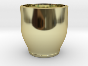 red cap cup 2 in 18K Gold Plated