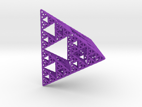 Sierpinski Pyramid; 4th Iteration in Purple Processed Versatile Plastic