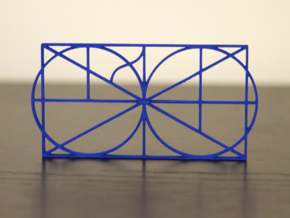 A Monogram Of The Alphabet Sculpture  in Blue Processed Versatile Plastic
