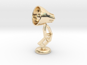 Mini Lamp Cufflink (order 2 for set) in 14k Gold Plated Brass