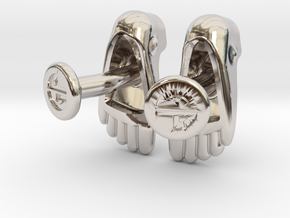 Feet Cufflinks in Rhodium Plated Brass