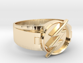 Flash Ring size 8.5 18.5mm  in 14k Gold Plated Brass