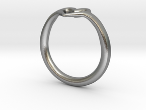 Heart Ring in Natural Silver