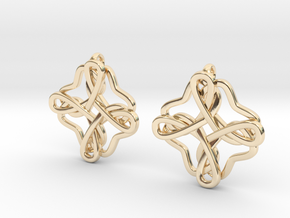 Friendship knot earrings in 14K Yellow Gold