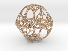 Apollonian Octahedron - Thin in 14k Rose Gold Plated Brass