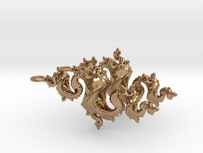Dragon Earrings 4cm in Polished Brass