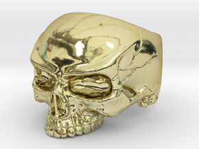 WR Ring HalfSkull - Size 3.5 in 18K Gold Plated