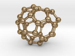 0035 Fullerene c36-07 c1 in Polished Gold Steel