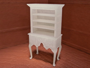 1:48 Queen Anne Highboy with Shelves in Smooth Fine Detail Plastic