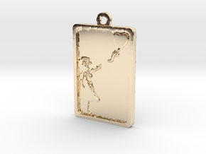 Banksy Girl With Balloon Pendant in 14K Yellow Gold