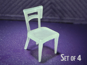 1:48 Dog Bone Chair (Set of 4) in Frosted Ultra Detail