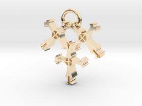 Triple Cross in 14K Yellow Gold