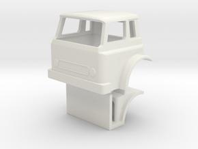 1/64 scale IH Cargostar Cab with Interior model in White Natural Versatile Plastic