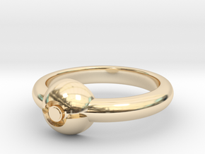 Pokeball Ring-Thin Band (Edit size in description) in 14k Gold Plated Brass