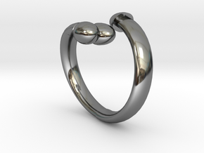 The D Ring - Sz.6 in Fine Detail Polished Silver