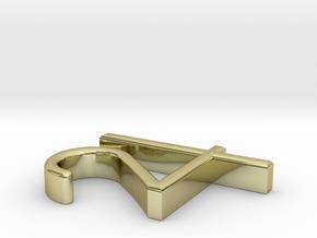 """Jupiter Symbol Pendant - 3/4"""" in 18K Gold Plated"""