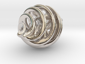 Entanglement Bauble (with loop) in Rhodium Plated Brass