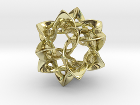 Icosahedron II, medium in 18K Gold Plated
