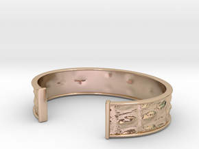 Gator small,medium,large in 14k Rose Gold Plated Brass: Small