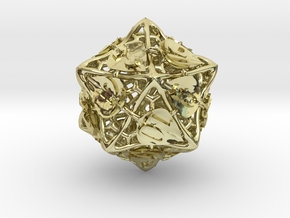 Botanical d20 Ornament in 18K Gold Plated