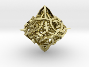 Thorn d10 Ornament in 18K Gold Plated