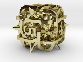 Thorn d6 Ornament in 18K Gold Plated