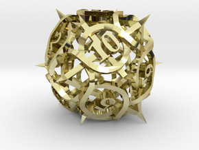 Thorn d12 Ornament in 18K Gold Plated