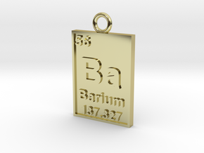 Barium Periodic Table Pendant in 18K Gold Plated