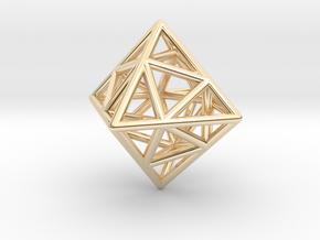 Icosa-Octahedron in 14k Gold Plated Brass