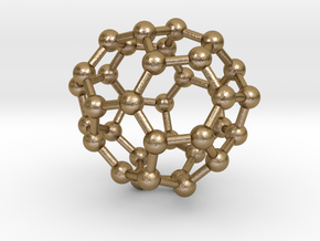 0038 Fullerene c36-10 c2 in Polished Gold Steel