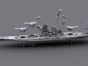 1/1800 IJN BB Musashi[1944] in White Strong & Flexible