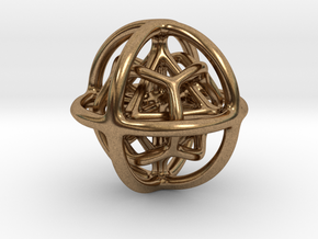 Gyroid 01 in Natural Brass