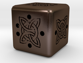 Dice161 in Polished Bronze Steel