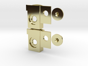 GP35 Semi-Scale Buffer Plate/ Draft Gear Box in 18k Gold Plated Brass: 1:87