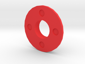 IGOR Quad Circles Barrel Tip Without Lip in Red Processed Versatile Plastic