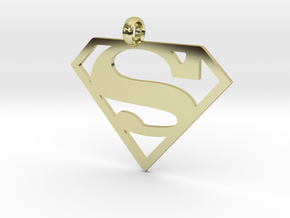 Superman necklace charm in 18K Gold Plated