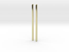half twist earrings in 18K Gold Plated
