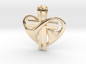 Love and Sacrifice - SMALL in 14k Gold Plated Brass