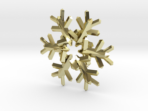 Snow Flake 6 Points E 4cm in 18K Gold Plated
