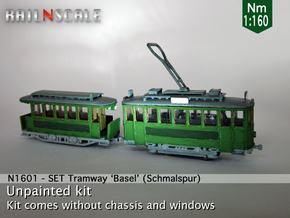 SET Motorwagen + Anhängerwagen (Nm 1:160) in Smooth Fine Detail Plastic