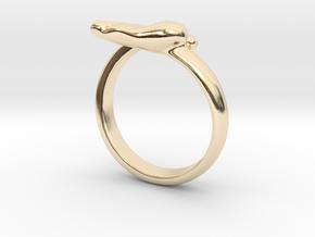 Newborn baby foot ring in 14k Gold Plated Brass