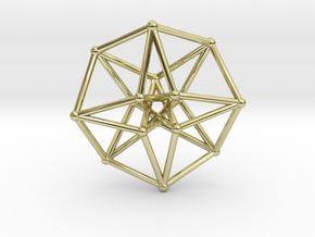 Toroidal Hypercube 50mm 2mm Time Traveller in 18K Gold Plated