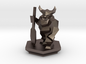 Low Poly Dwarf (Table-Top Alliance Base Unit) in Stainless Steel