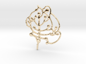 Neolithic 'Tree Of Life' Pendant in 14k Gold Plated Brass